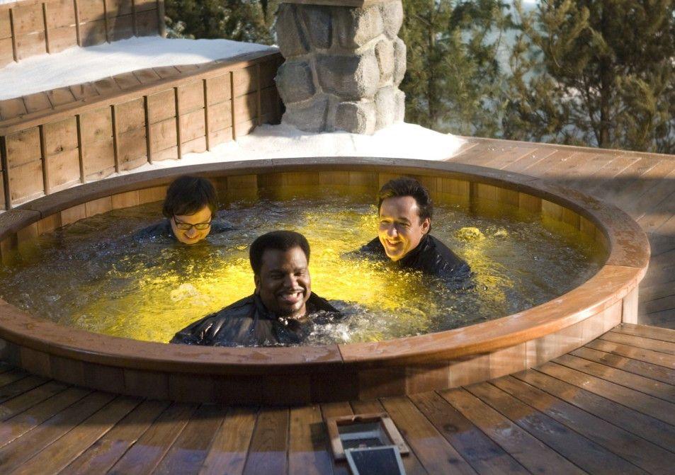 Zeitreise im Whirlpool - die Jungs freuen sich