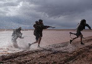 Jagdszenen im tibetanischen Hochland