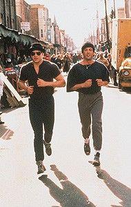 Trainiert für den großen Kampf: Sylvester Stallone  als Rocky Balboa (r.)