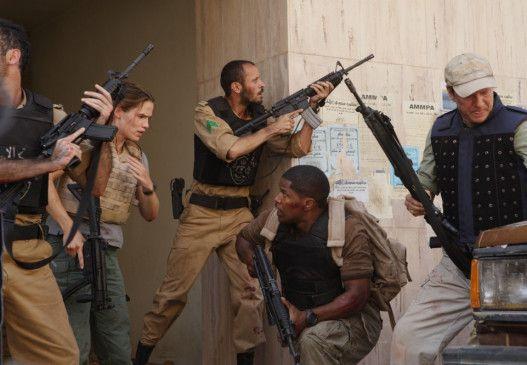 Mal wieder voll in Aktion: Jennifer Garner, Jamie Foxx und Chris Cooper (vorne, v.l.)