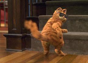 Voll cool, oder? Garfield unterwegs