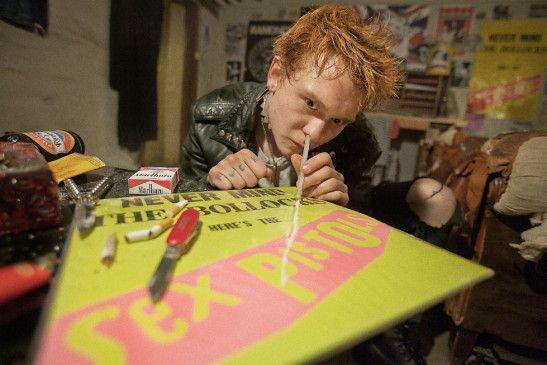 Voll auf Linie: Trond Nilssen wäre gern ein Sex Pistol