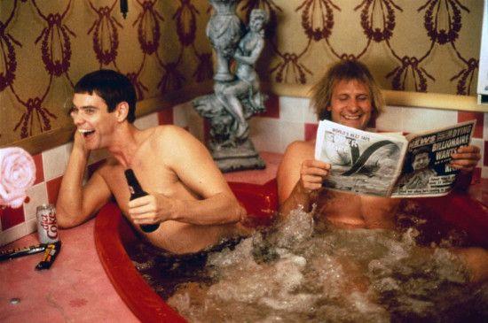 Überbieten sich an Dämlichkeit: Jim Carrey (l.) und  Jeff Daniels