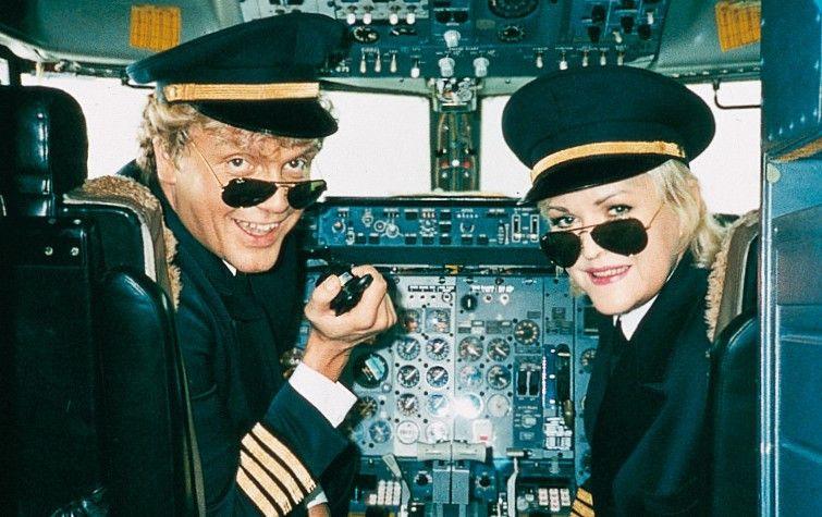 Wenn das die Passagiere wüssten! Hape Kerkeling und Angelika Milster als Piloten