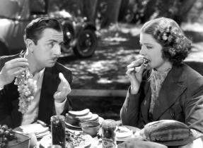 Du irrst dich sicher, das sind keine Trauben! Myrna  Loy und William Powell