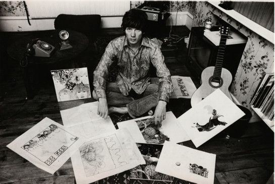 """Der """"fünfte Beatle"""": Grafiker und Bassist Klaus Voormann in den Sechzigerjahren"""