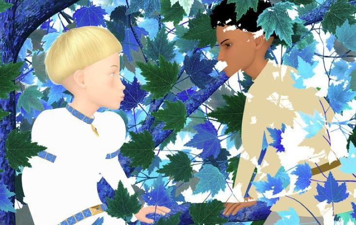 Azur (l.) und Asmar verbringen ihre Kindheit miteinander ...