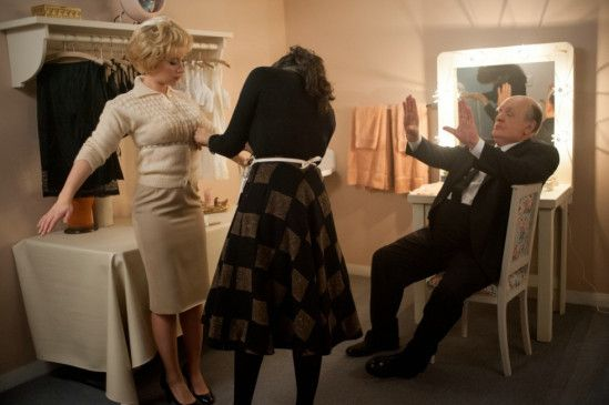 Der Meister in der Garderobe: Scarlett Johansson als Janet Leigh und Anthony Hopkins als Hitchcock