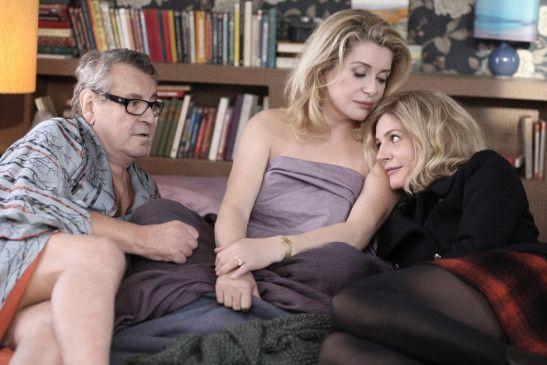Illustres Trio: Milos Forman, Catherine Deneuve und Chiara Mastroianni