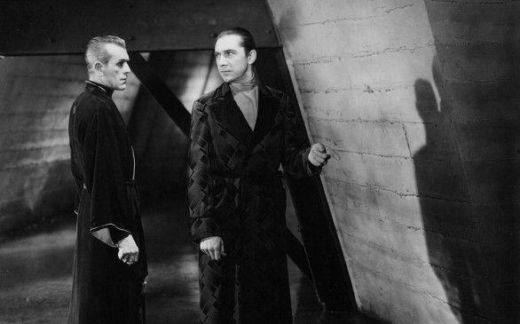 Sind sich nicht grün: Bela Lugosi (r.) und Boris Karloff