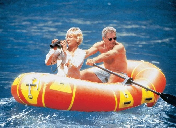 Ich kann nicht schneller rudern! Harrison Ford und  Anne Heche