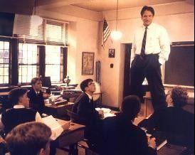 """""""Carpe diem!"""" Robin Williams regt seine Schüler  dazu an, den Tag nicht zu vertrödeln"""