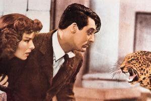 Unter Hauskätzchen hab' ich mir eigentlich was  anders vorgestellt: Cary Grant und Katherine  Hepburn