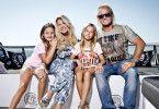 Die Geissens: Carmen und Robert mit ihren Töchtern Shania und Davina.