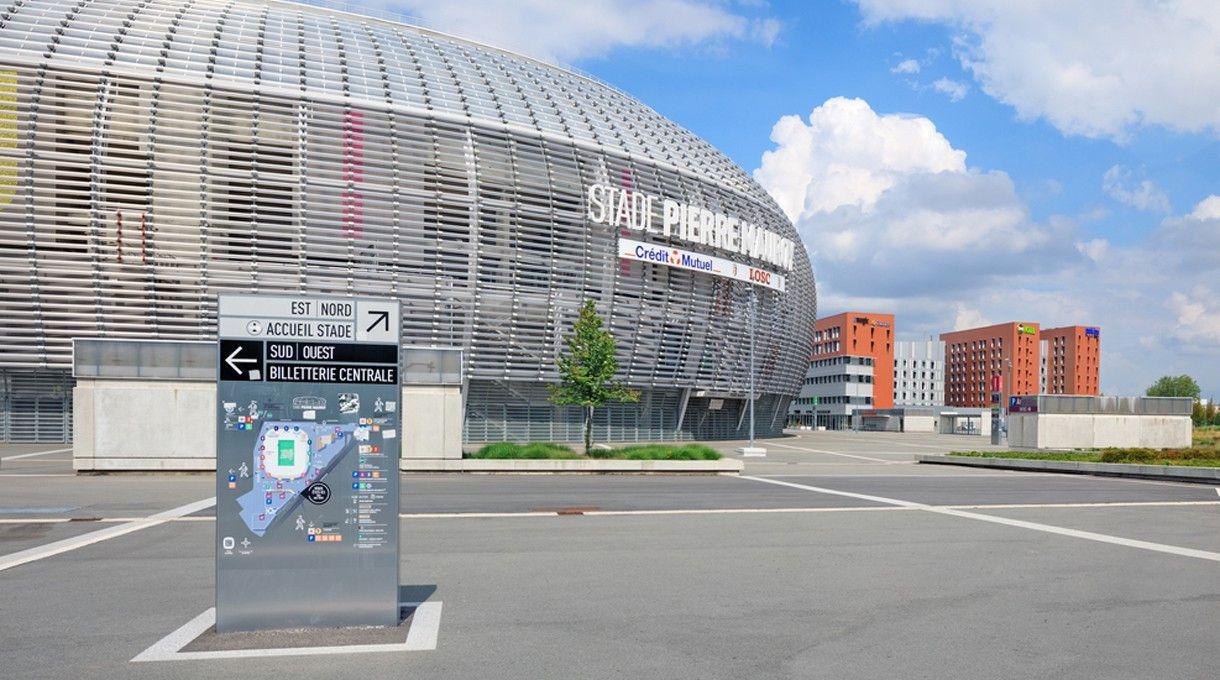 Das Stade Pierre-Mauroy in Villeneuve-d'Ascq (Lille). <br> Kapazität: 50.186 - vier Vorrundenspiele, ein Achtel- und ein Viertelfinalspiel finden hier statt.