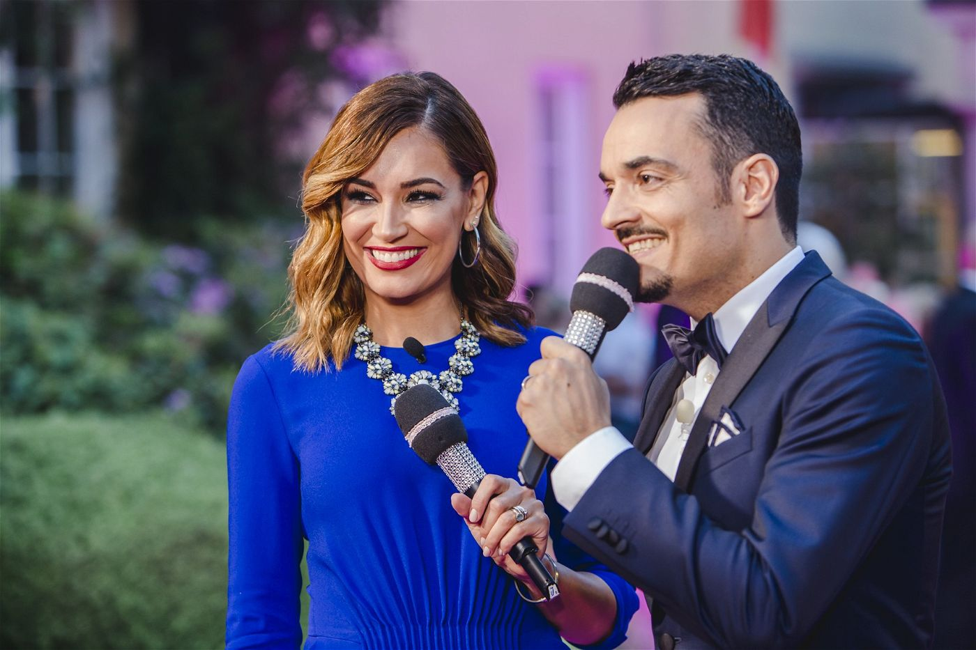 Jana-Ina und Giovanni Zarella führten für die TV-Zuschauer durch den Abend.