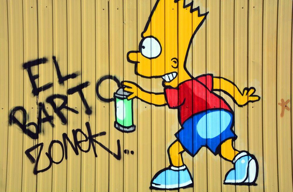 Bart ist auch bei Street-Art-Künstlern sehr beliebt ...