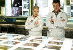 Rollen einen sechs Jahre zurückliegenden Fall noch einmal auf: Ryan Wolfe (Jonathan Togo, r.) und Calleigh Duquesne (Emily Procter, l.)