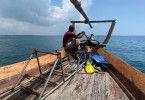 Ausflug nach Prison Island, Sansibar, Tansania mit Kapitaen Robert Fronenbroek (nicht im Bild) und Crew-Mitgliedern.