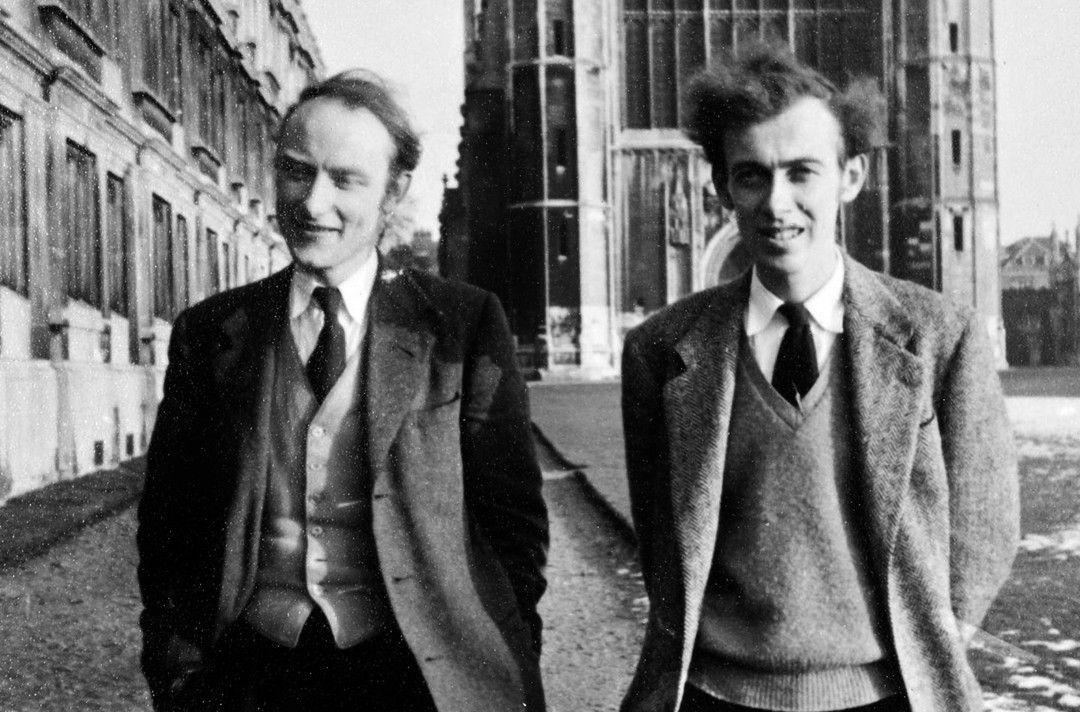 Francis Crick (li.) und James Watson (re.) entdeckten 1953 die Struktur der DNA.