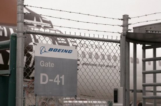 Boeing schottet sich ab. Ein Tor zum Werk 'Renton' in Seattle.
