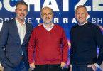 Von links: Dirk Steffens, Harald Lesch, Johannes B. Kerner.