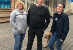 v.li.n.re.:  Jutta, Willi und Alina Moser, Schausteller-Familie aus Benningen.