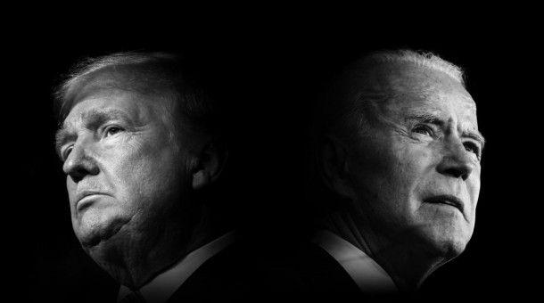 Donald Trump (l.) oder Joe Biden? Wer wird im November 2020 das Rennen um die US-Präsidentschaft für sich entscheiden?