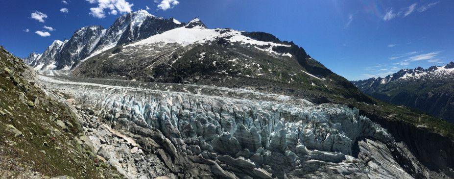 Der Argentière Gletscher in Frankreich ist einer der am besten untersuchten Eisströme der Welt. Seine Dynamik hat sich in den letzten Jahrzehnten extrem verändert.