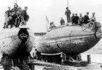 Frühe Entwürfe: amerikanische U-Boote von 1905 im Trockendock