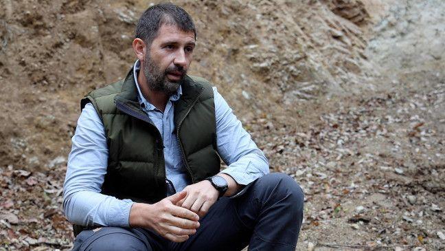 Gabriel P. kämpft für die Erhaltung des Waldes in Rumänien.