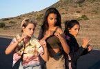 Die queere Sabina (Kristen Stewart, links), die disziplinierte Jane (Ella Balinska, Mitte) und die nerdige Elena (Naomi Scott) bilden ein zeitgemäßes Engel-Team.