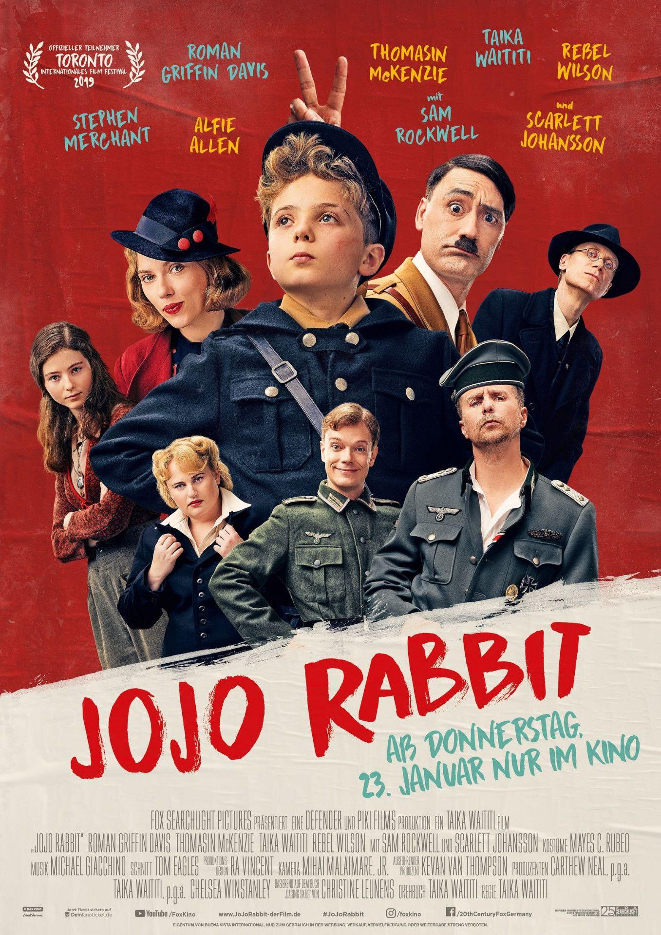"""Die großartige Komödie """"Jojo Rabbit"""" ist für sechs Oscars nominiert, unter anderem als """"bester Film""""."""