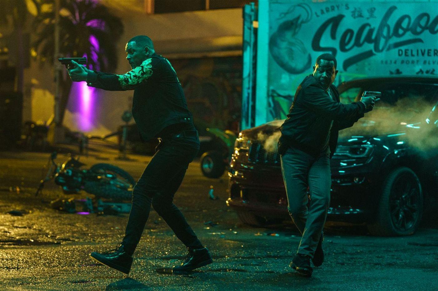 Wie in der guten, alten Zeit: Mike (Will Smith, links) und Marcus (Martin Lawrence) voll in Action!