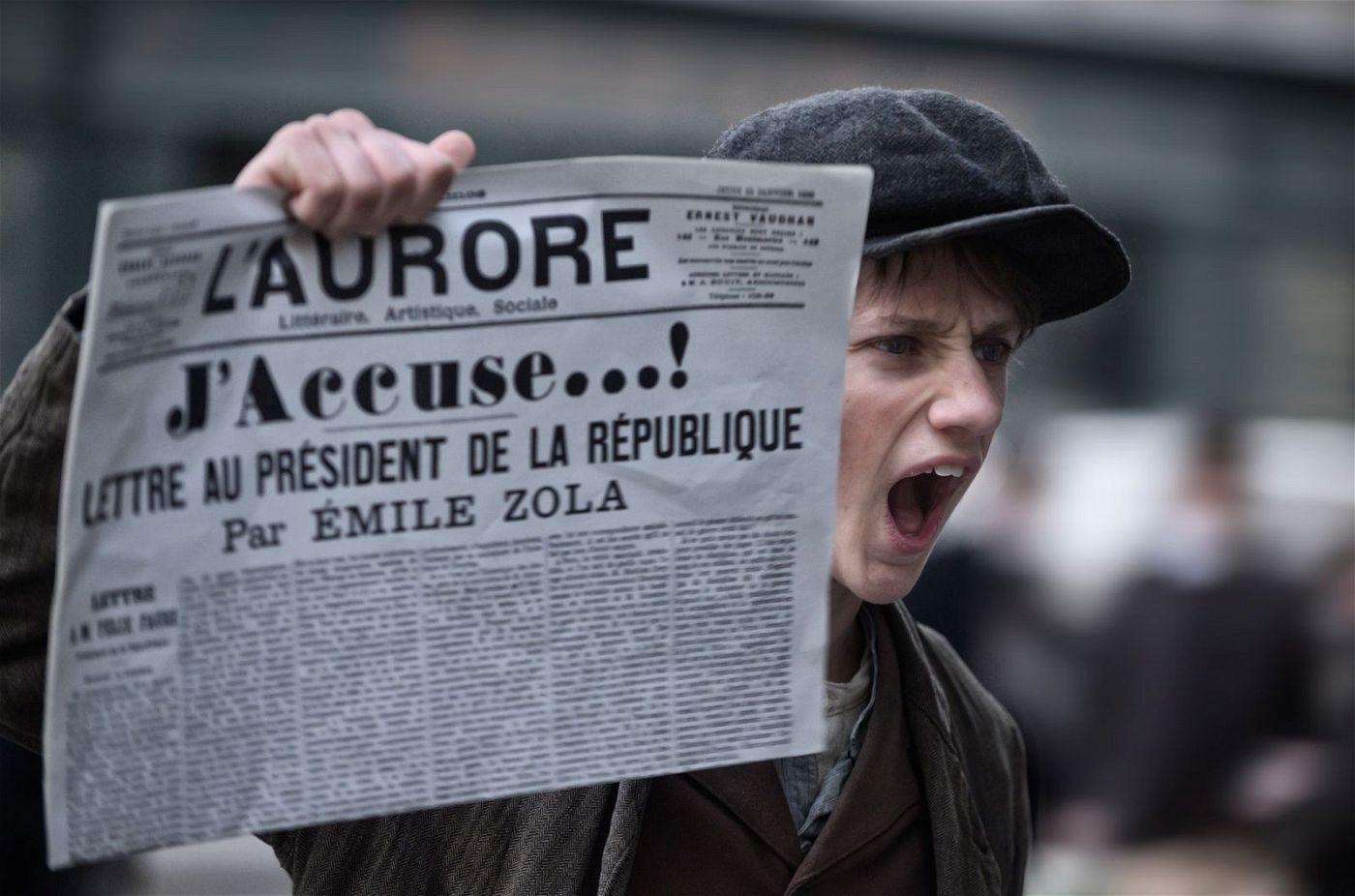 """In dem offenen Brief """"J'accuse...!"""" klagt Émile Zola die Obrigkeiten an. Auch Roman Polanskis Verfilmung der Dreyfus-Affäre ist eine Anklage."""