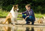 Flo (Nico Marischka) will Lassie ihre Angst vor Wasser nehmen.