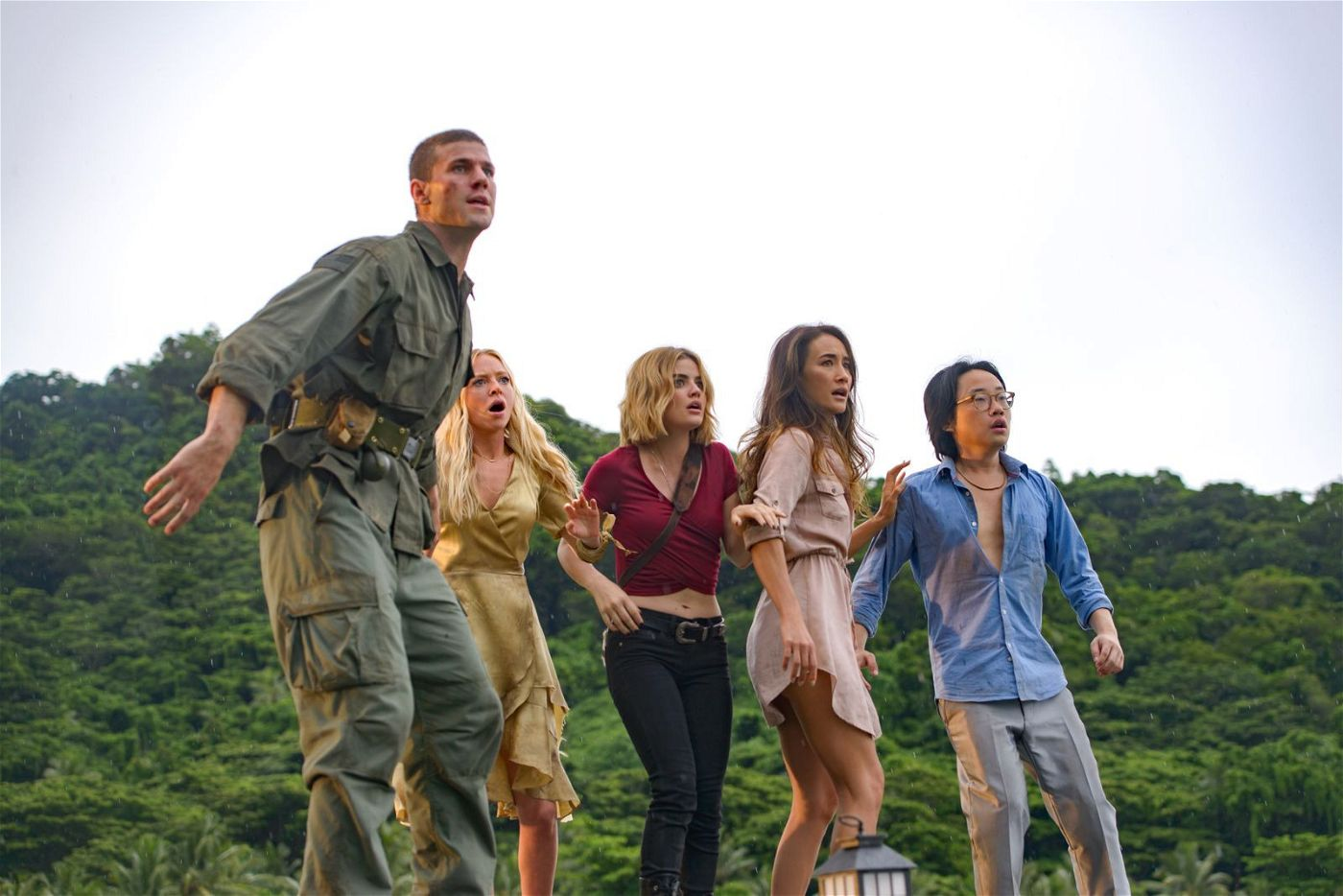 Von links: Patrick (Austin Stowell), Sloane (Portia Doubleday), Melanie (Lucy Hale), Elena (Maggie Q) und Brax (Jimmy O. Yang) erleben auf einer vermeintlichen Trauminsel einen Albtraum.