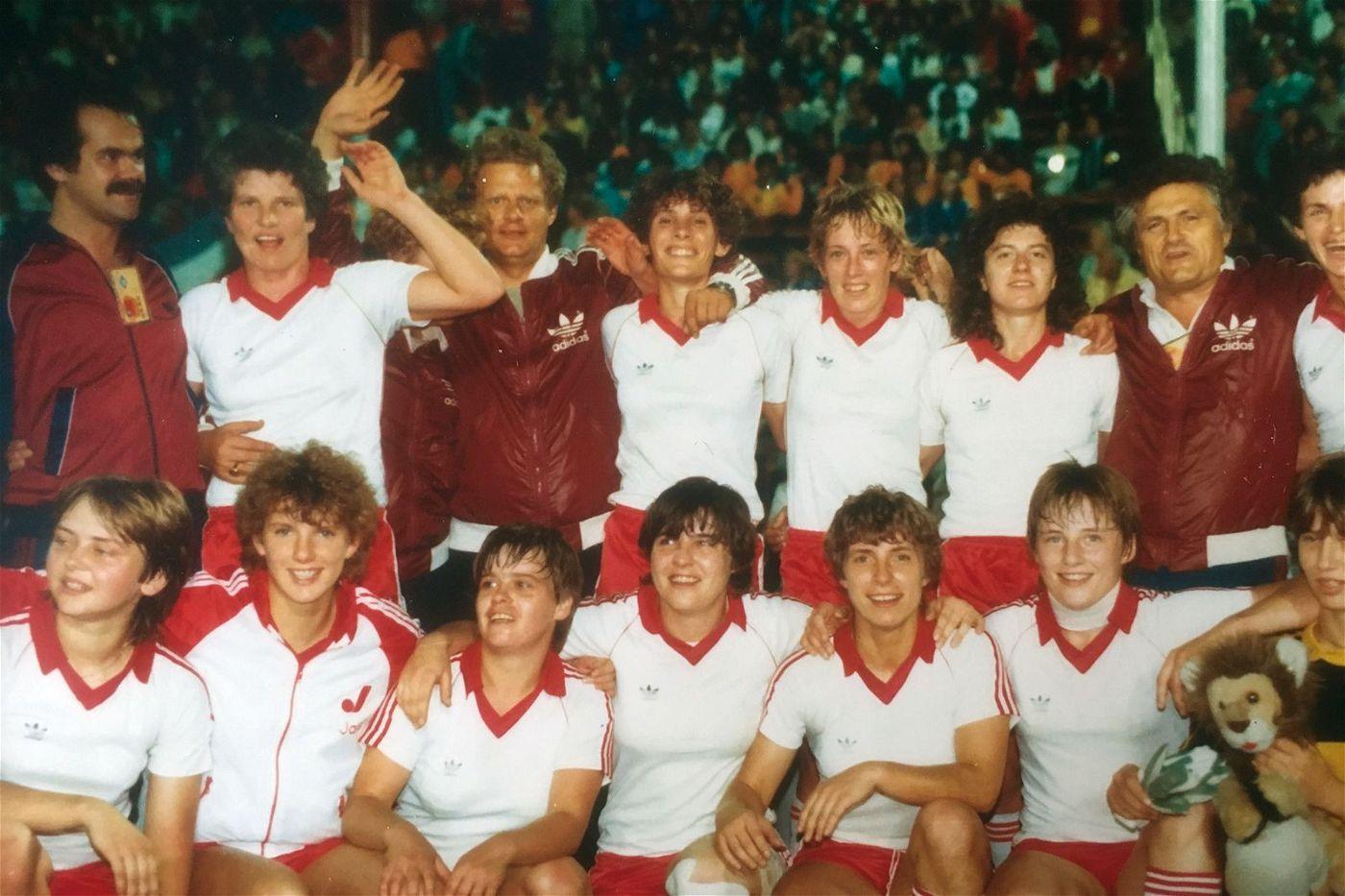 Die Rekordmeisterinnen der SSG 09 Bergisch Gladbach vertraten die BRD 1981 in Taiwan.