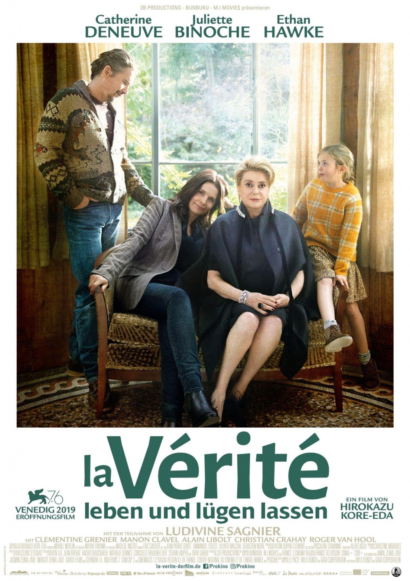 """Catherine Deneuve, Juliette Binoche und Ethan Hawke: Für """"La Vérité - Leben und lügen lassen"""" hat Regisseur Hirokazu Kore-eda ein spektakuläres Ensemble versammelt."""