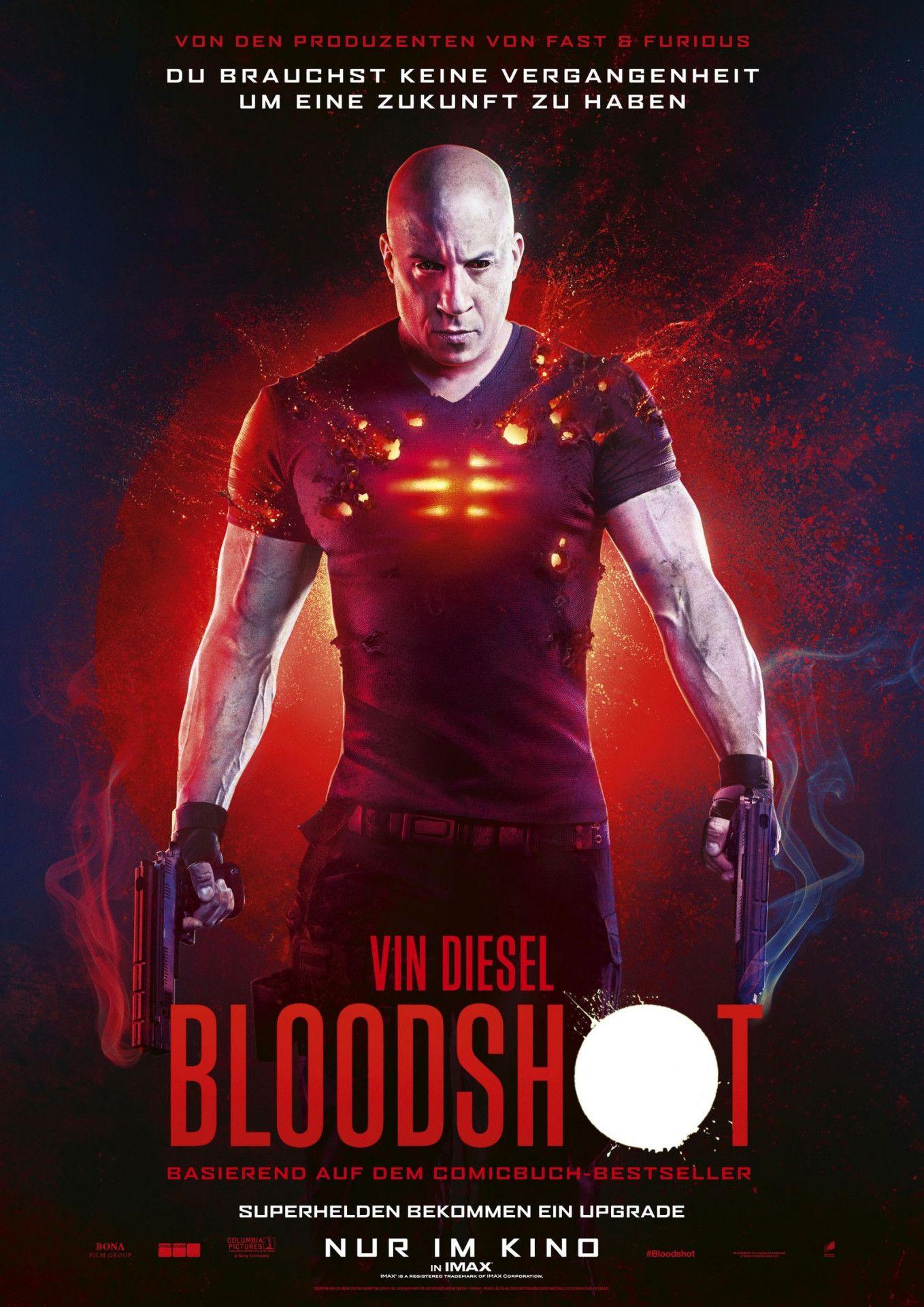 """In der Comic-Verfilmung """"Bloodshot"""" verkörpert Actionrecke Vin Diesel einen ermordeten Elitesoldaten, der ins Leben zurückgeholt und technisch zu einer unzerstörbaren Killermaschine hochgerüstet wird."""