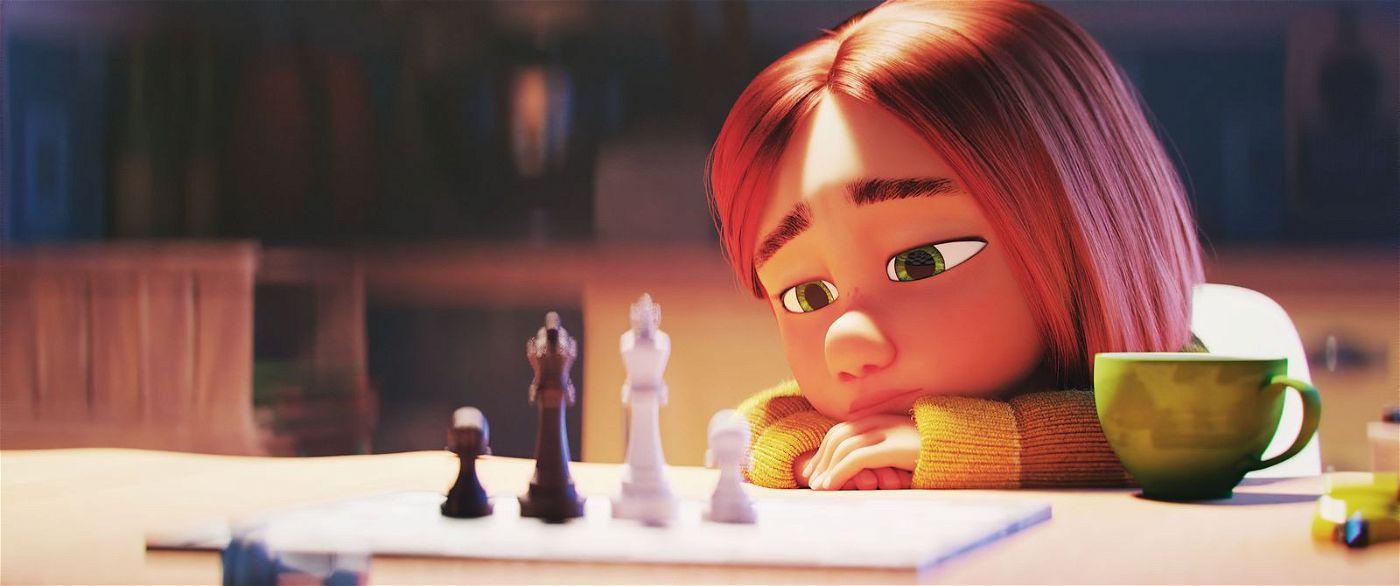 Selbst das Schach Spielen macht Mina keinen Spaß mehr