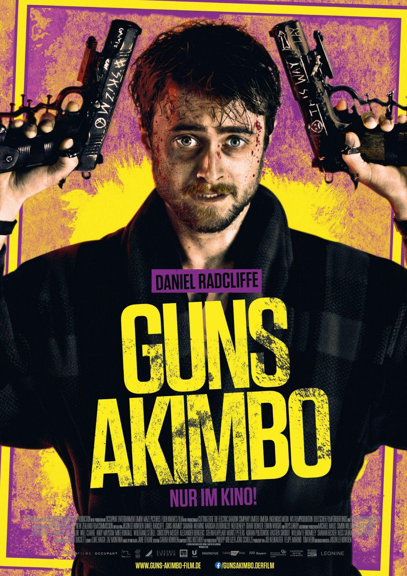 """In """"Guns Akimbo"""" wird aus dem von Daniel Radcliffe gespielten Programmierer ein Waffennarr wider Willen."""