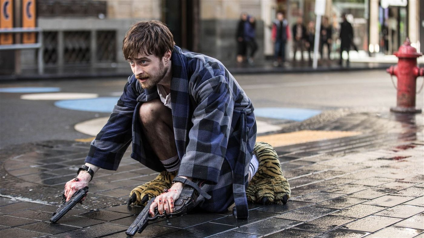 Miles (Daniel Radcliffe) muss vor Nix, Skizm und der Polizei flüchten.