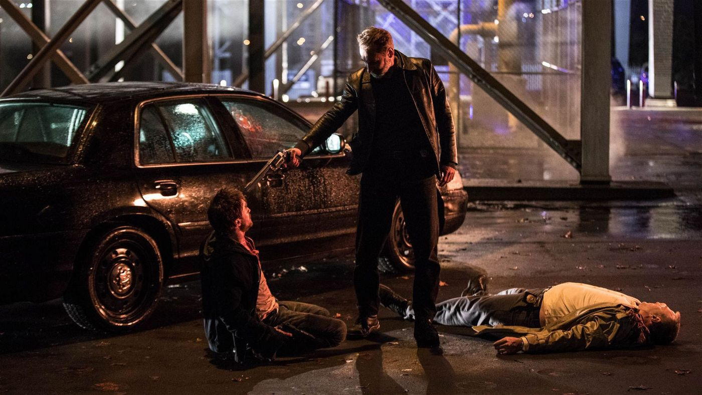 Selbst der Polizei kann Miles nicht trauen, von links: Daniel Radcliffe, Edwin Wright und Colin Moy.