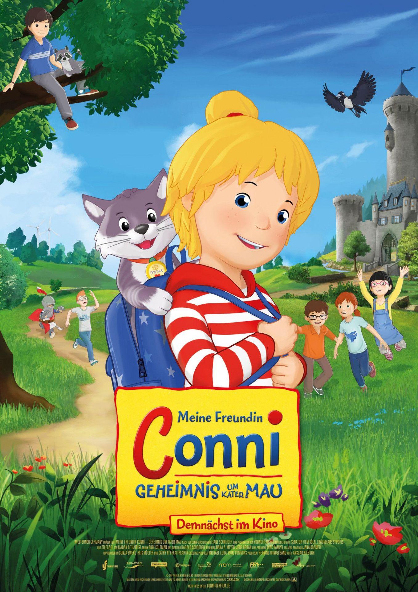 Conni ist zum ersten Mal mit dem Kindergarten zu einer Übernachtung in der Nähe einer alten Burg unterwegs und erlebt dabei ein Abenteuer.