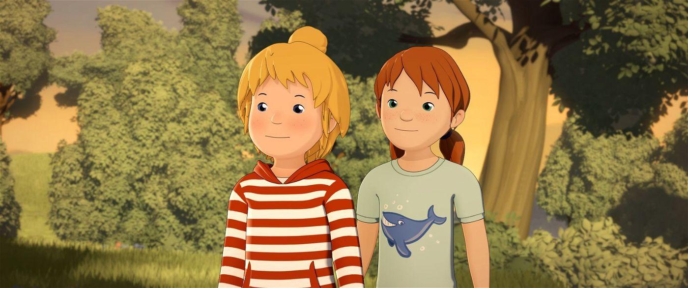 Conni und Anna überlegen, wie sie Waschbär Oskars Unschuld beweisen können.