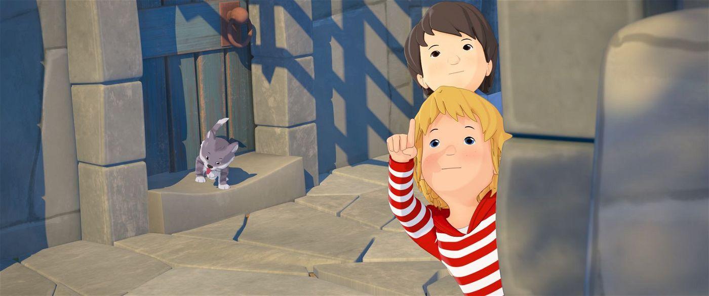 Conni und Luca machen auf der Burg eine Entdeckung.