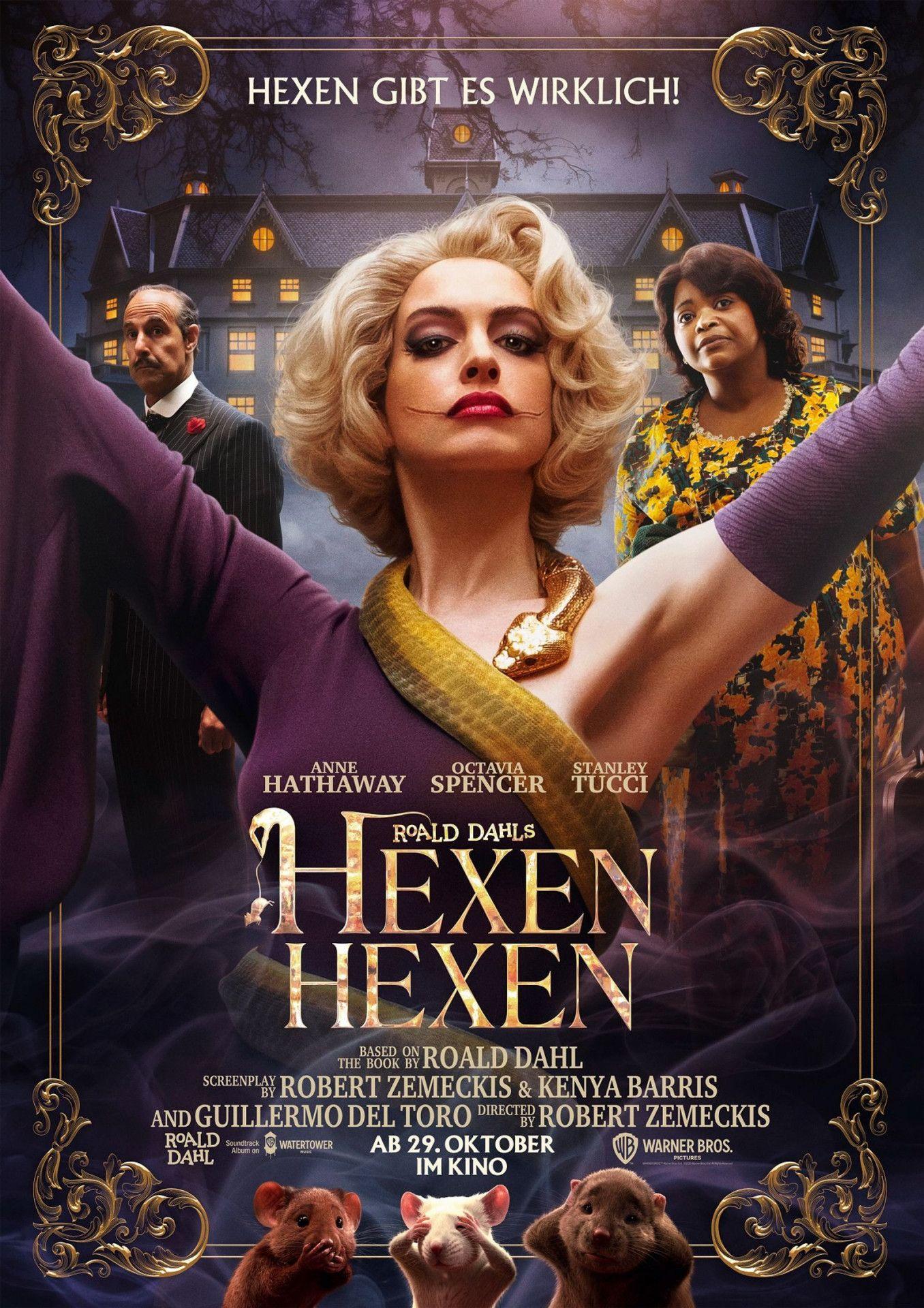 """In der Neuverfilmung von """"Hexen hexen"""" verbreitet Anne Hathaway als Oberhexe Angst und Schrecken."""